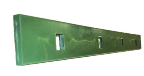 Tensioning bars polyurethane or rubber covered