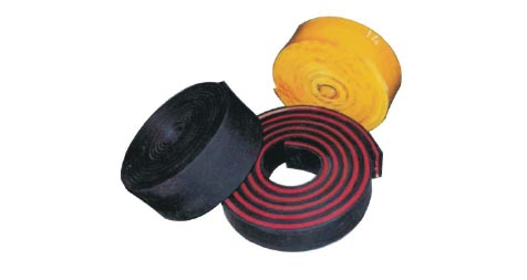 Rubber scraping strips