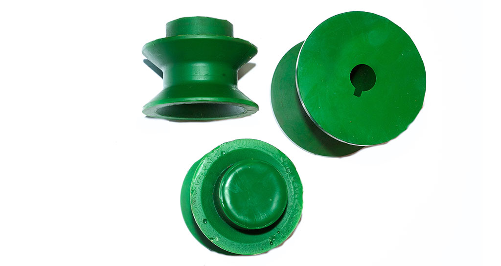 Polyurethane rollers and conveyor belt guide rollers